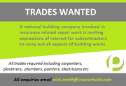 A national building company seeking trades